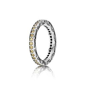 Pandora Silver Eternity Ring Honey color 5